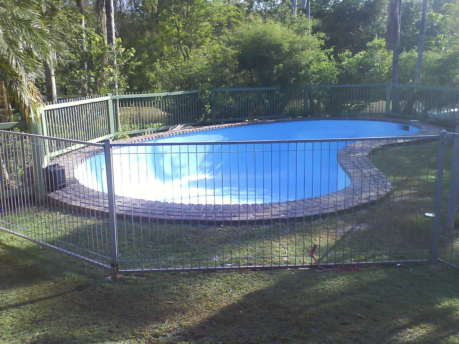 View of the pool after restoration work