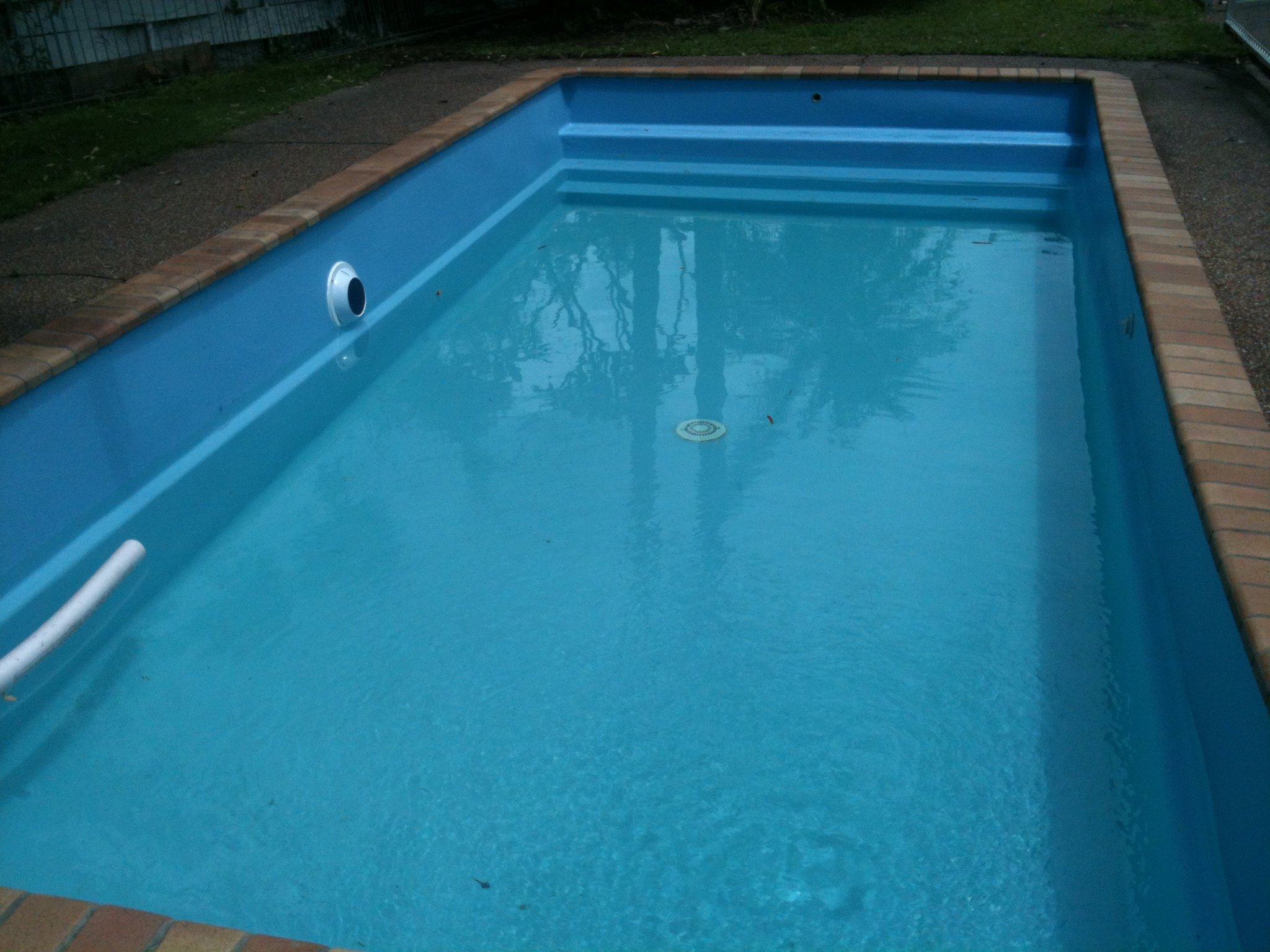 View of the pool after the resurfacing work