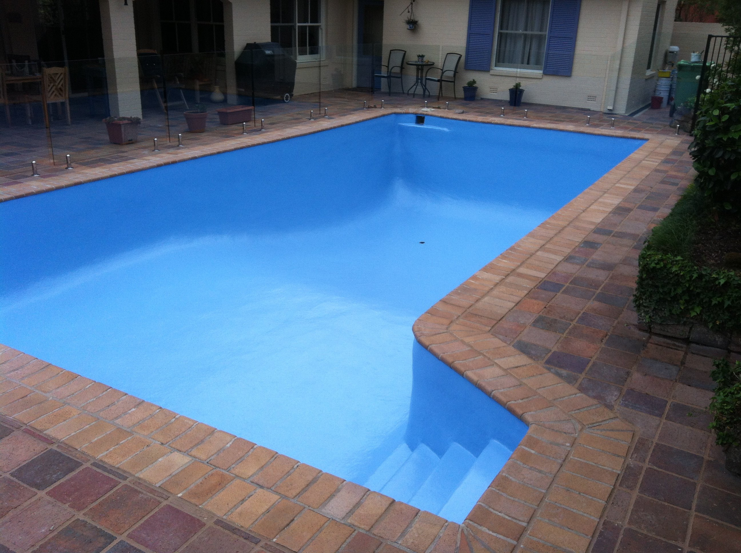 Completed restoration work on pool