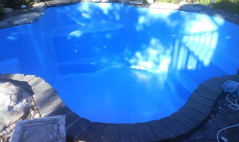Repaired and resurfacing renovation done on the pool