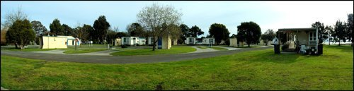 View of the Lake Colac Holiday park