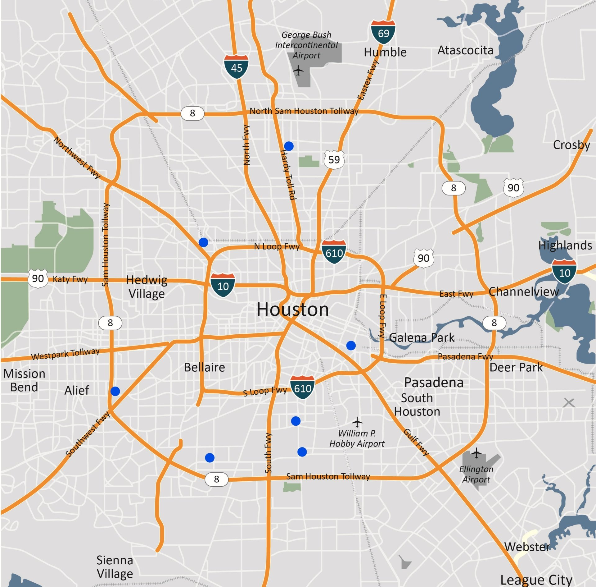 Decisive image for printable map of houston