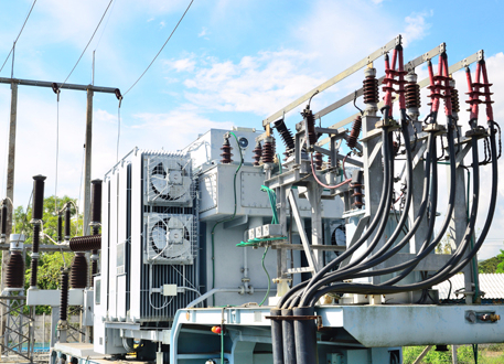 Transformer of high power station
