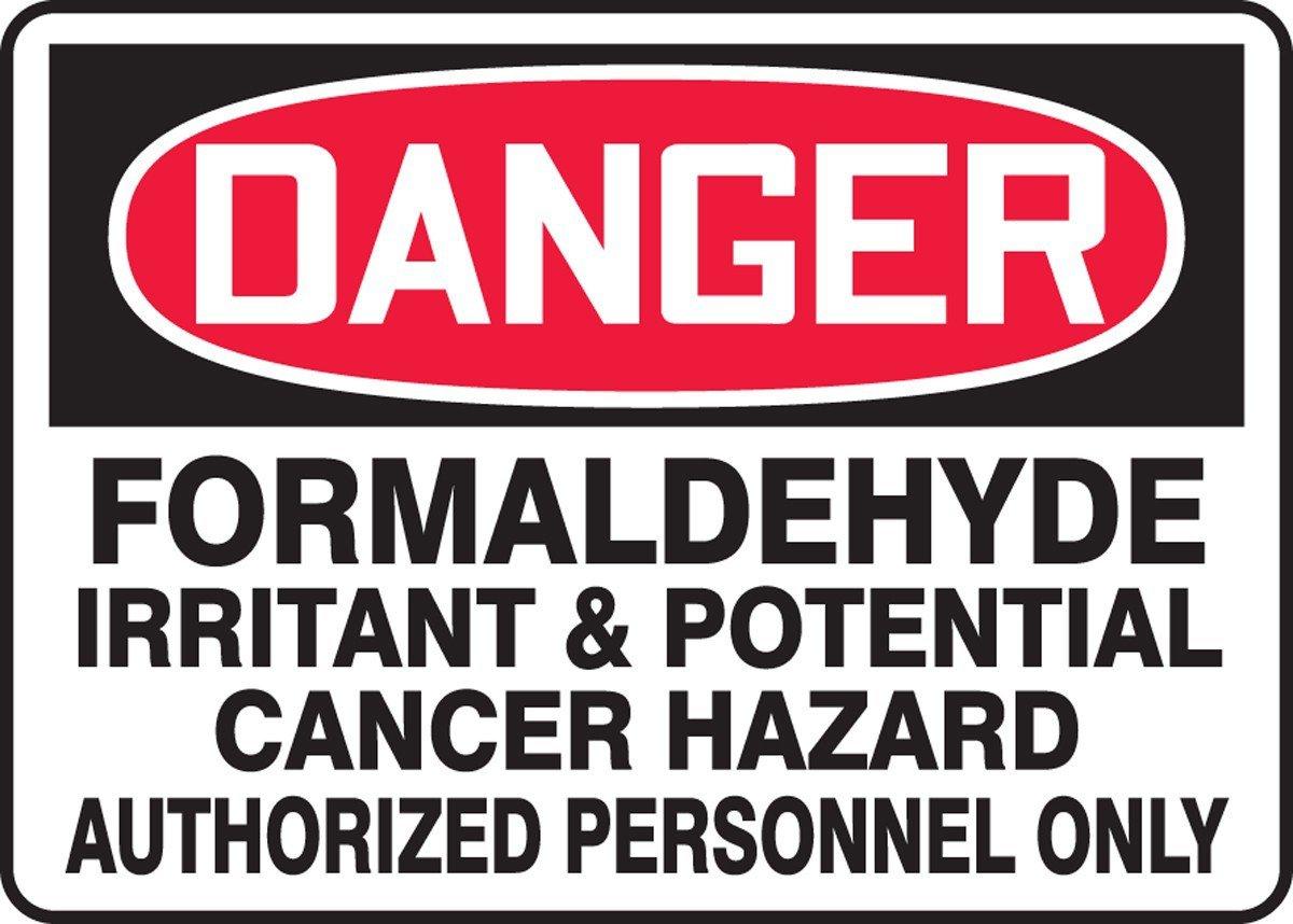 Formaldehyde warning