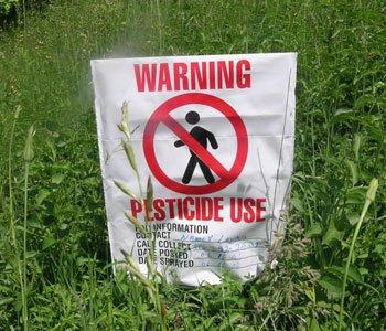 Organophosphate pesticide warning