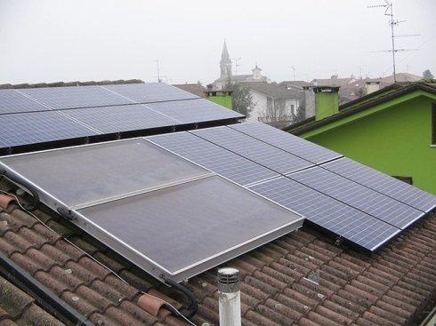 I pannelli solari sul tetto