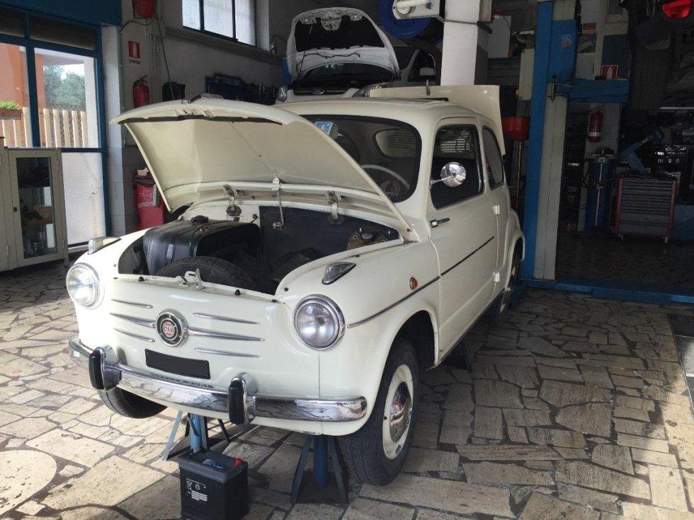 restauro auto 600 FIAT