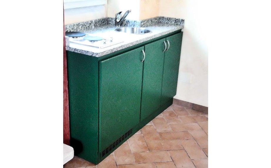 Mobili da cucina verde