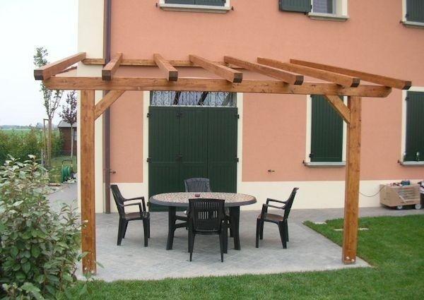 montaggio tettoie in legno