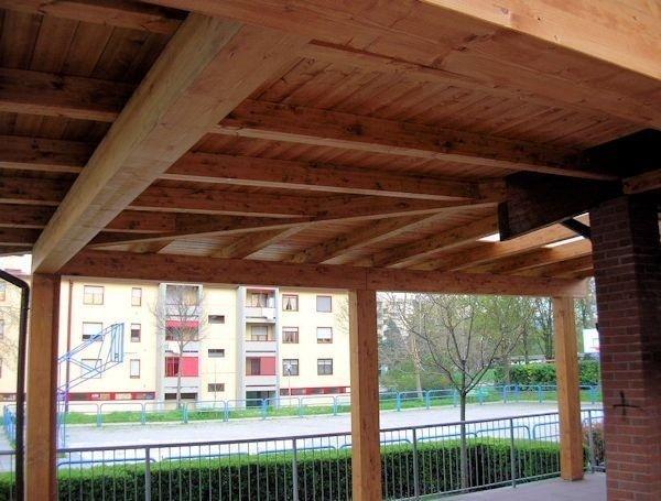 Tetti tettoie in legno