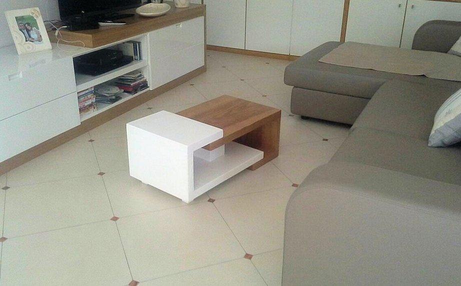 Tavolino frassino bicolore