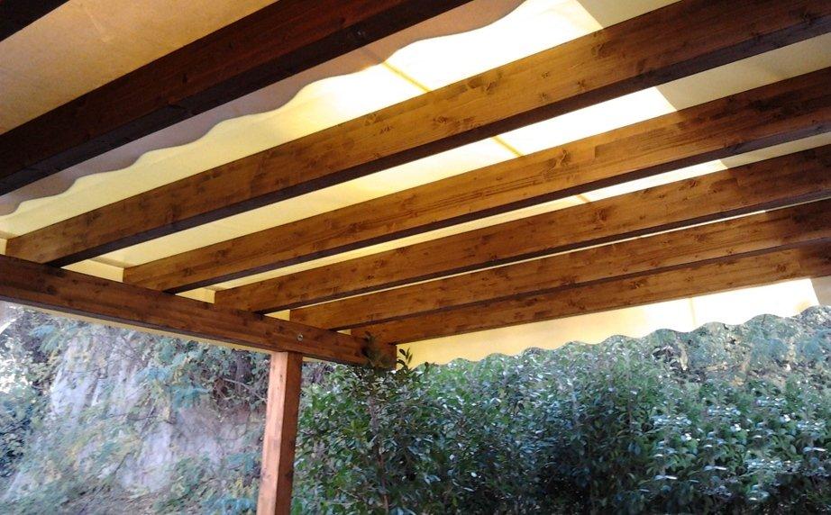 Tettoia legno