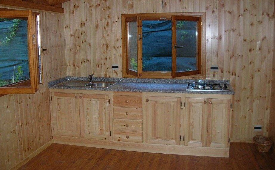 Cucina casetta in legno