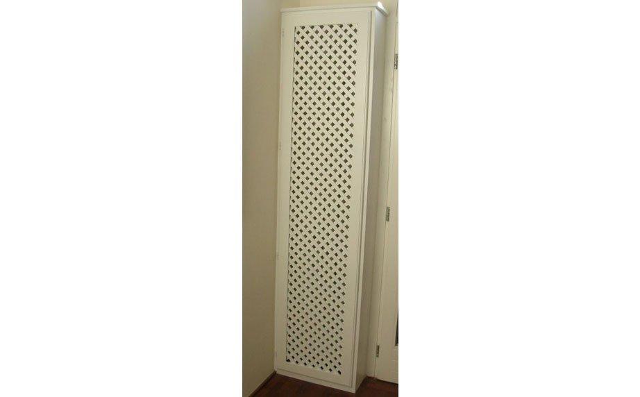 Copri termosifone laccato bianco