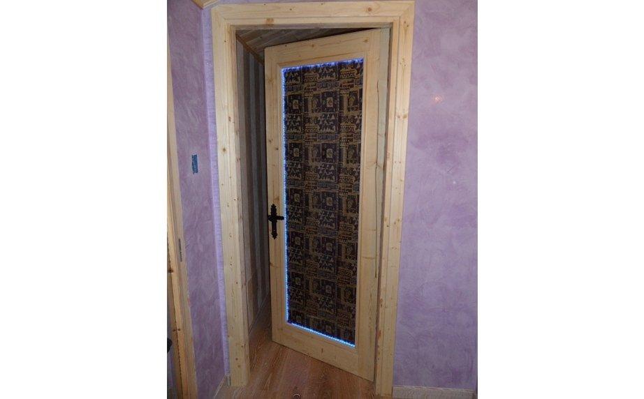 Porta in vetro e legno