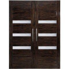 Porta scorrevole in legno Makassa a due ante