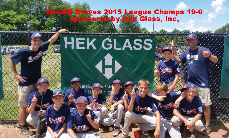 Western LL 2015 League Champs 19-0 sponsored by Hek Glass, Inc.