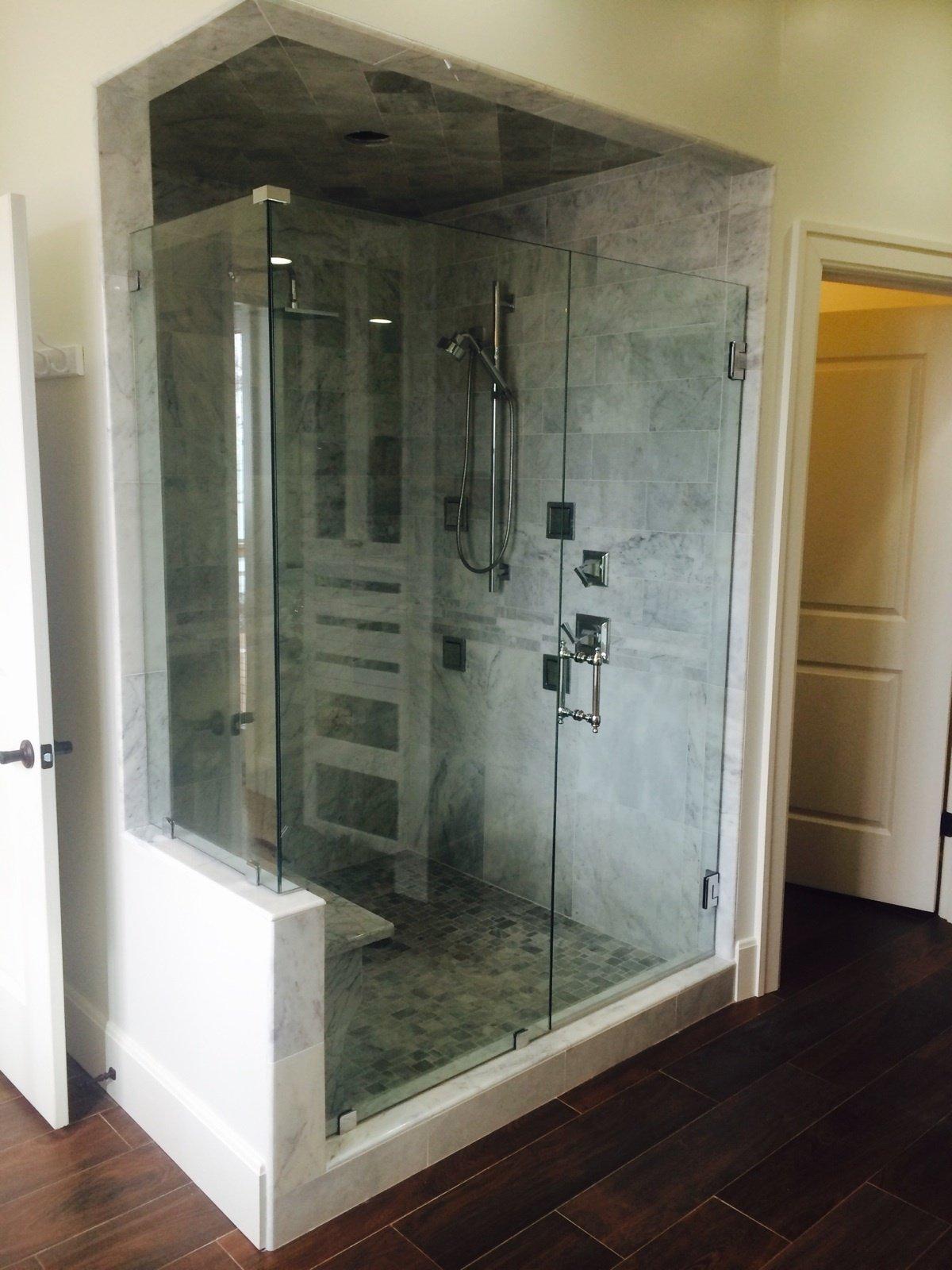 Bathroom glass installation in Lexington, KY