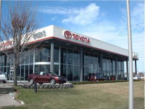 One of our aluminum store fronts on a Toyota dealership in Lexington, KY