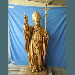 Statua in legno Papa Giovanni Paolo II