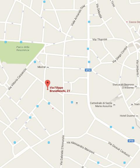 mappa oristano