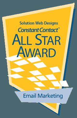 Solution Web Designs Email Marketing Award