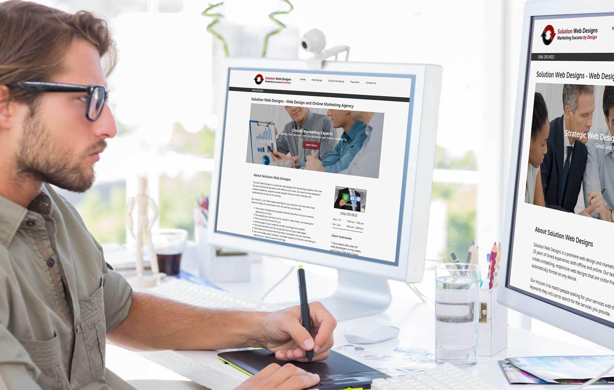Web Design Long Island by Solution Web Designs