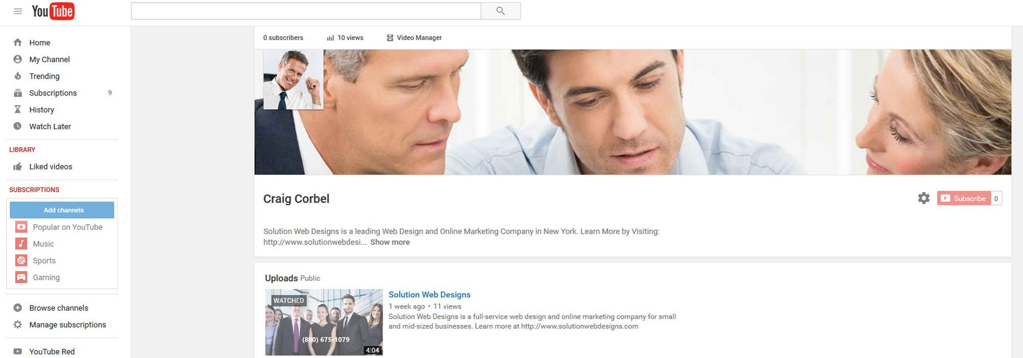 YouTube Marketing Agency Solution Web Designs