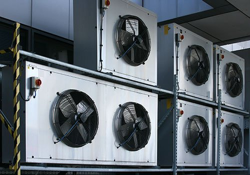 stack of commercial hvac/r units
