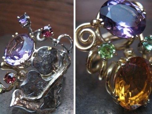 realizzazione anelli in oro e pietre