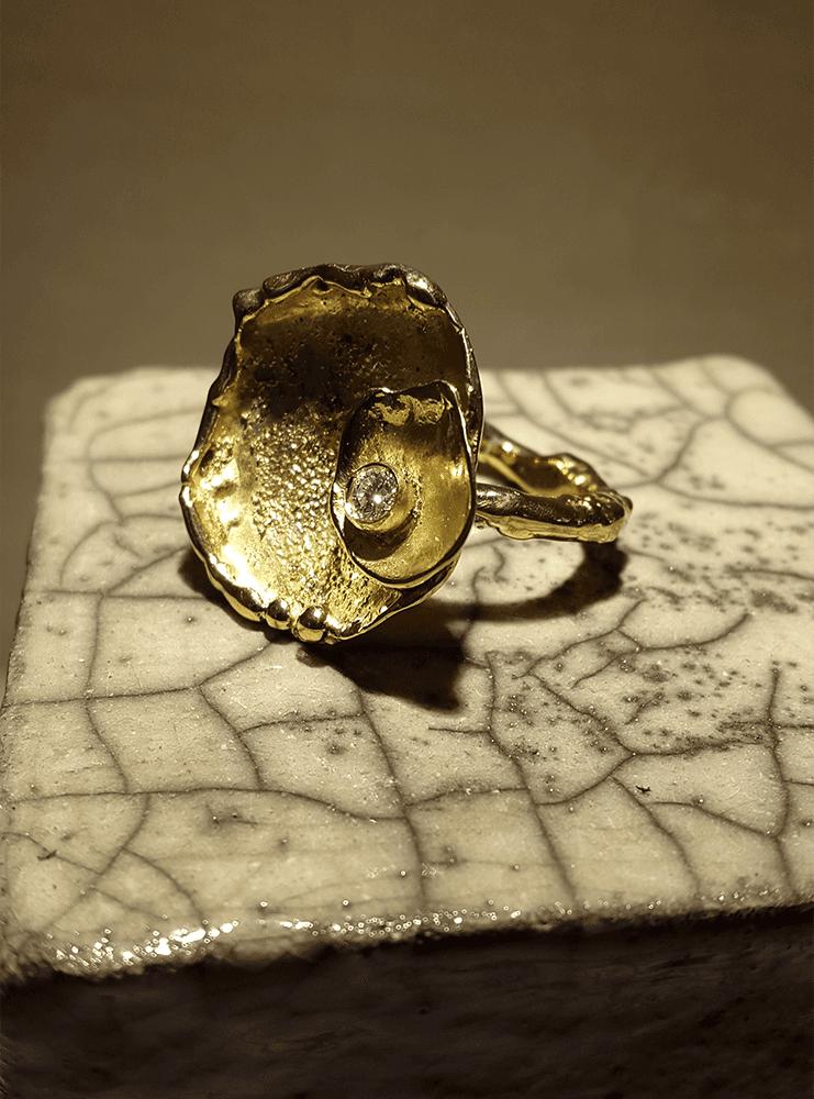 anello fuso oro giallo