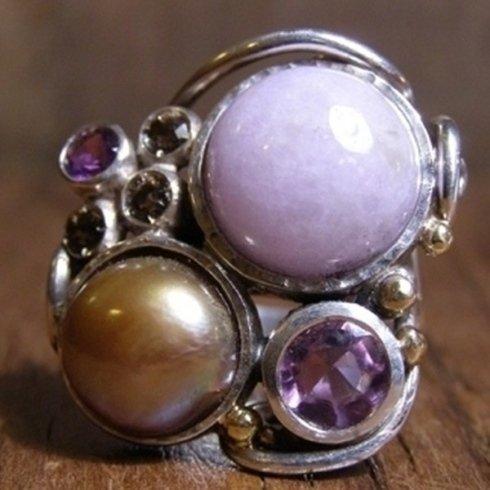 anelli con perle di fiume