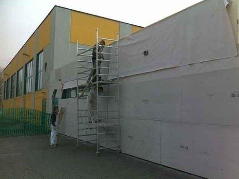applicazione coibentazione termica muro