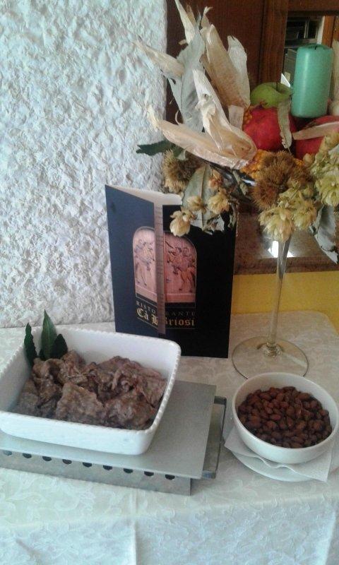 Carne salada cotta alla piastra con fagioli borlotti