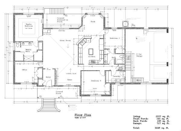 Floor plans pettinato construction inc gulf breeze fl for 3 bedroom with office house plans