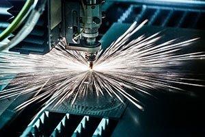 lavorazione metallica con laser