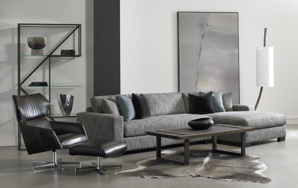 grey couch set with pillows