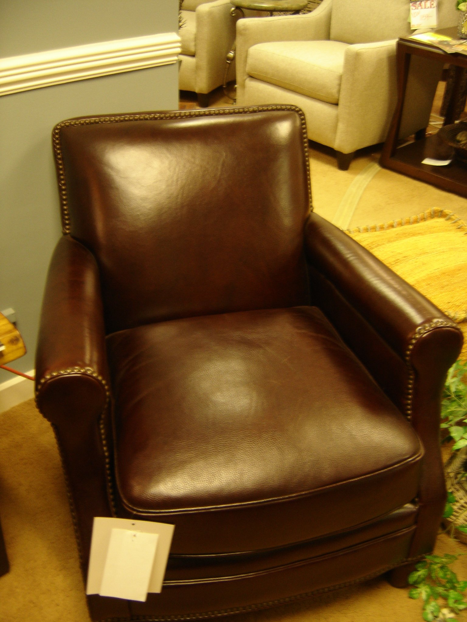 Quality Leather, Smaller Scaled Chair