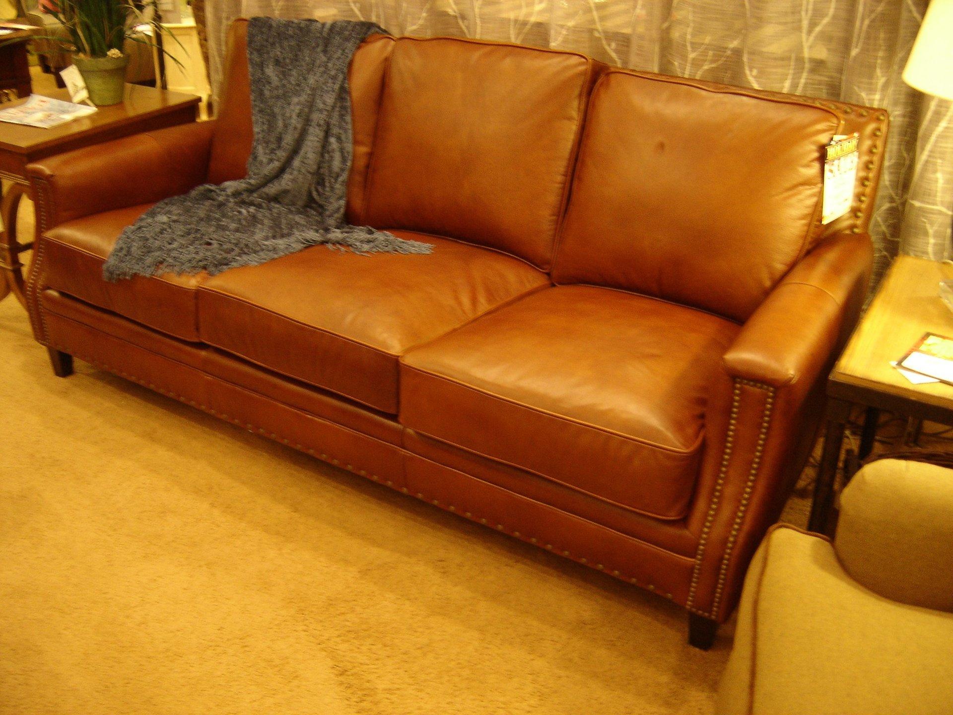 Classic Style Leather Sofa