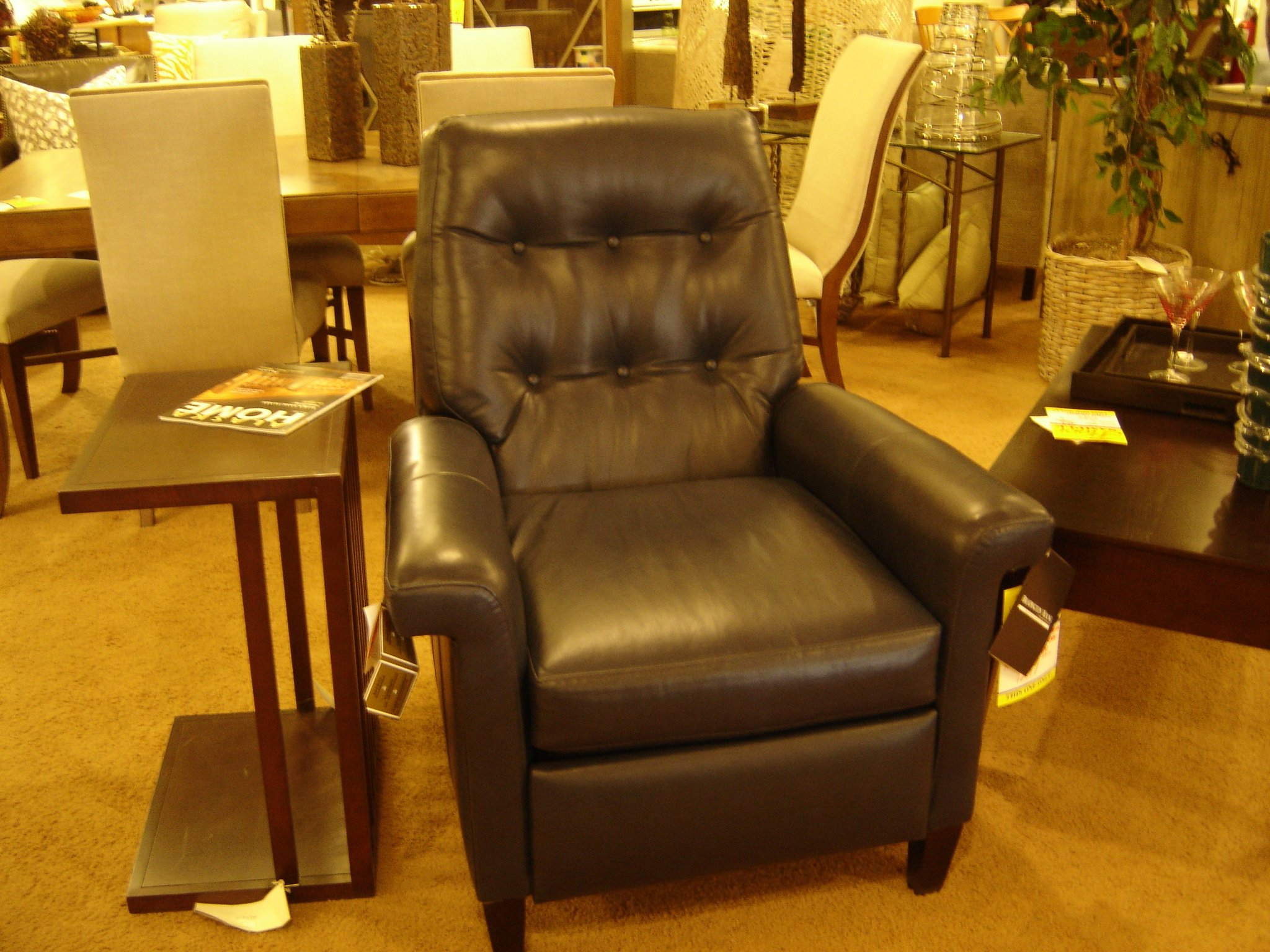 Sheeran Recliner from Bradington Young in Navy Blue Leather