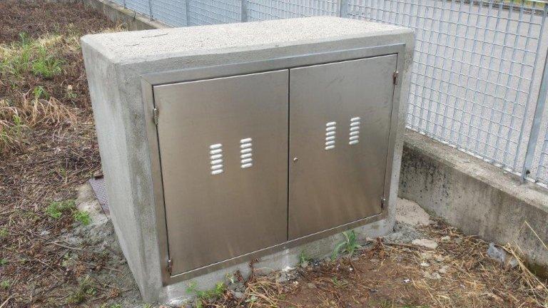 Portina contatori in acciaio inox