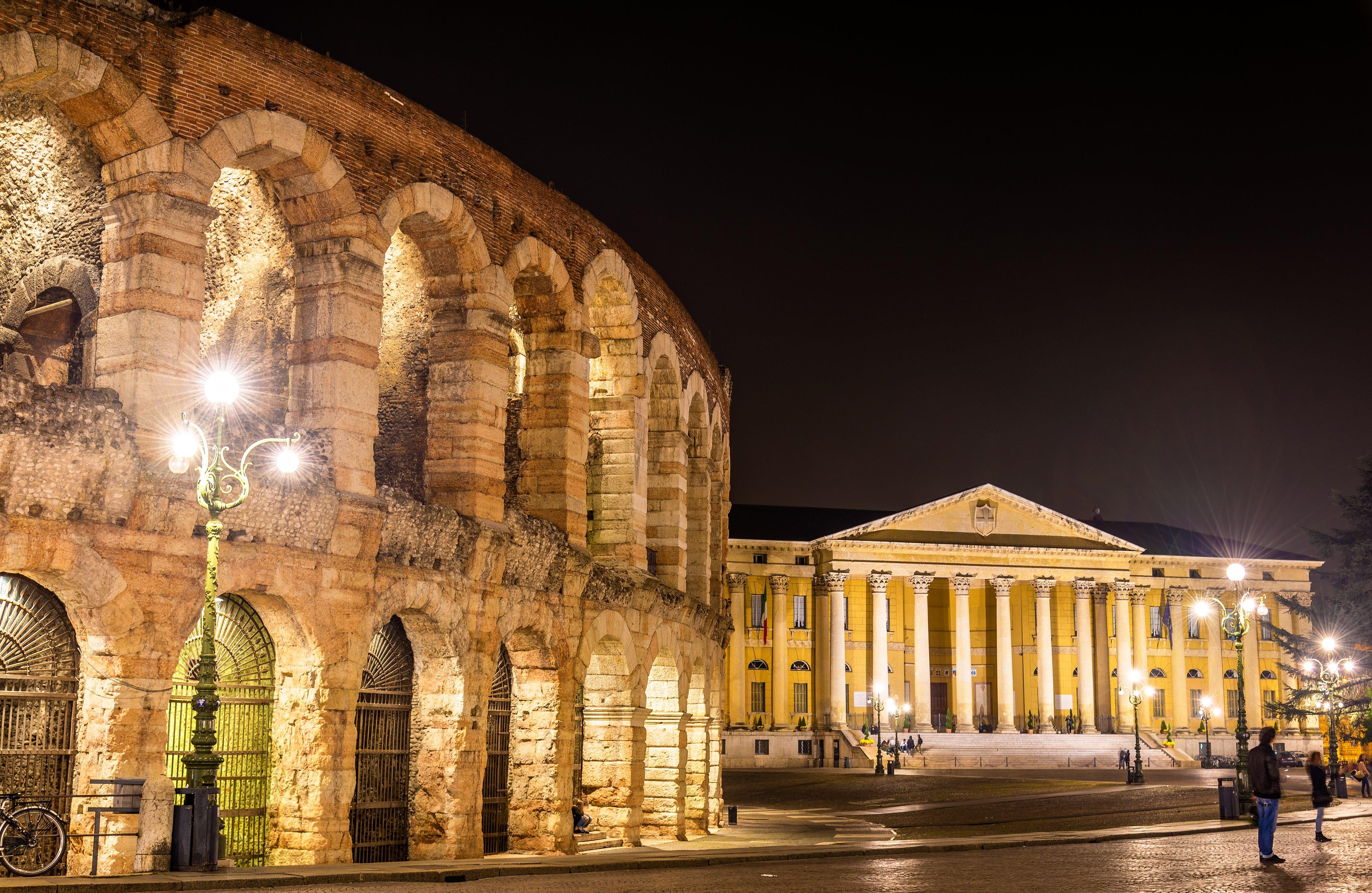 Vista dell'arena di Verona