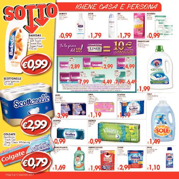 Offerte di prodotti d'igiene casa e persona