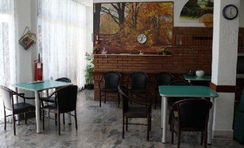 Sala comune interna a Villa Sirente