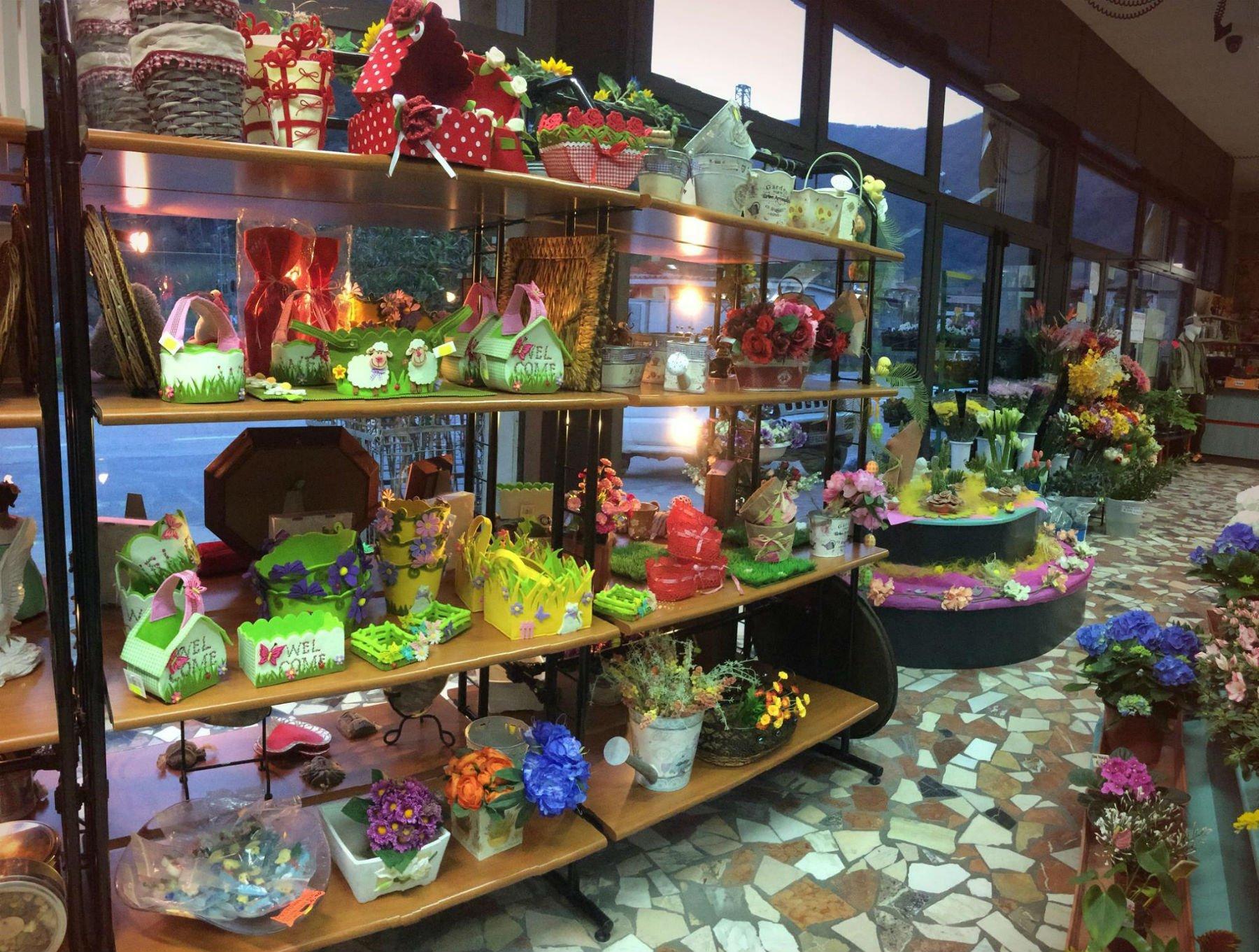Interno di un negozio di fiori