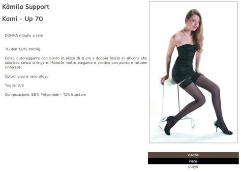 Kamila - up calza autoreggente maglia a rete
