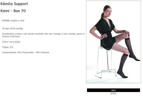 Kamila - Basic - Gambaletto maglia a rete