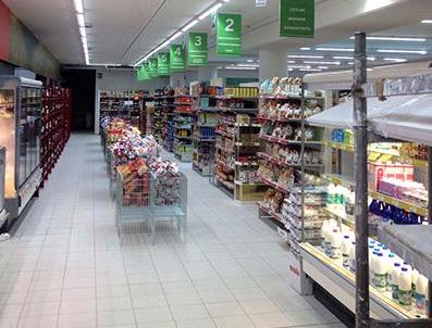 montaggio arredo supermercato