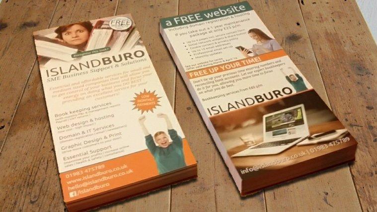 Island Buro DL promotional leaflets