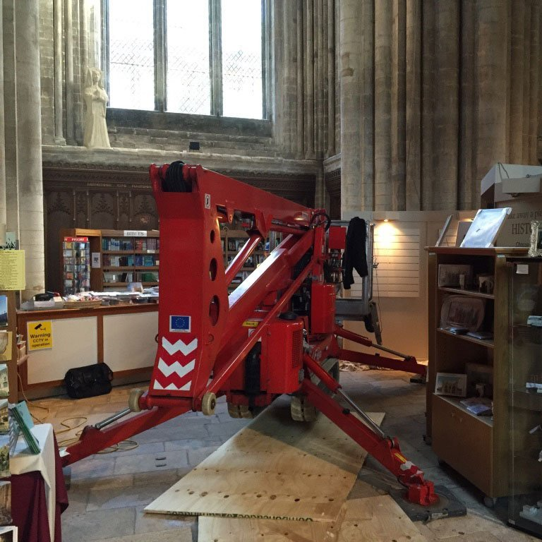 machinery used in ecclesiastical project